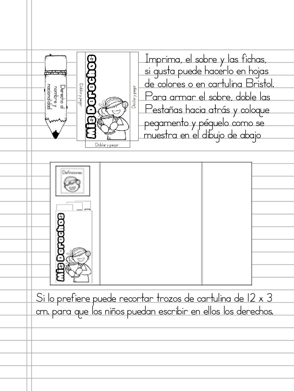 Fichas Para Colorear Sobre Los Derechos De Los Ninos Derechos De Los