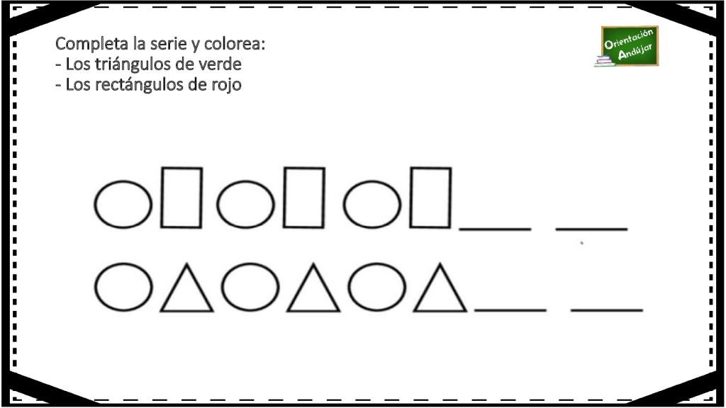 Fichas De Atencion Completa Las Series Y Colorea Segun Las