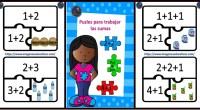 Os dejamos este sencillo puzzle para trabajar las sumas con los más pequeños.