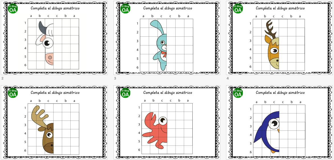 Cuaderno de atención dibujamos ANIMALES simétricos -Orientacion ...