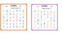 A continuación os proponemos una completa actividad para trabajar la atención y el reconocimiento de letras.
