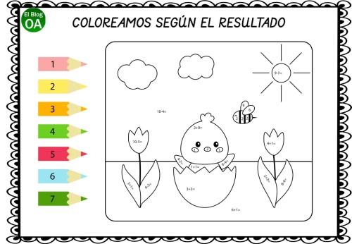 Sumas Y Restas Cuaderno Para Colorear Según El Resultado