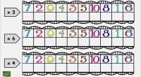 Sencilla actividad para repara tanto en el aula como en casa las tablas de multiplicar. Completa la tabla.
