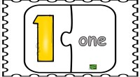 Colección de divertidas fichas para aprender los números en inglés. Recorta y pega los números correctamente.