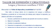 Este taller se incluye dentro de la asignatura de Lengua y Literatura Castellana y pretende ser un instrumento de trabajo para mejorar la expresión. Los objetivos del taller son los […]