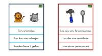 Colección de tarjetas para trabajar la comprensión lectora a partir de divertidos dibujos.