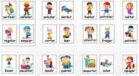 DESCARGA LAS TARJETAS EN PDF tarjetas para trabajar los verbos