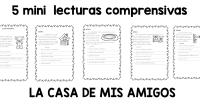 BONITAS MINILECTURAS CON 5 PREGUNTAS DE COMPRENSIVAS.