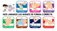 Secuencia en bonitas imagenes para que los peques se laven las manos, Es ideal para imprimir y poner en el baño de nuestras casas.