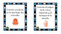 Os dejamos estas sencillas tarjetas con las que podemos trabajar la asimilación de instrucciones escritas y la comprensión lectora.