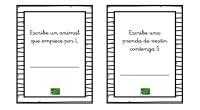 Colección de tarjetas para trabajar la conciencia fonológica.