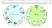 """Aquí podéis DESCARGAR el material """"Juego de descripciones"""". Contiene varios círculos con características como «forma», «tamaño», «color» y «uso», además de un total de 40 tarjetas con fotografías de objetos […]"""