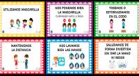 Carteles para poner en las aulas o pasillos del centro con medidas preventivas del Coronavirus.