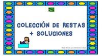 Os dejamos esta completa colección de restas de 1,2,3 y 4 cifras acompañadas de sus soluciones.