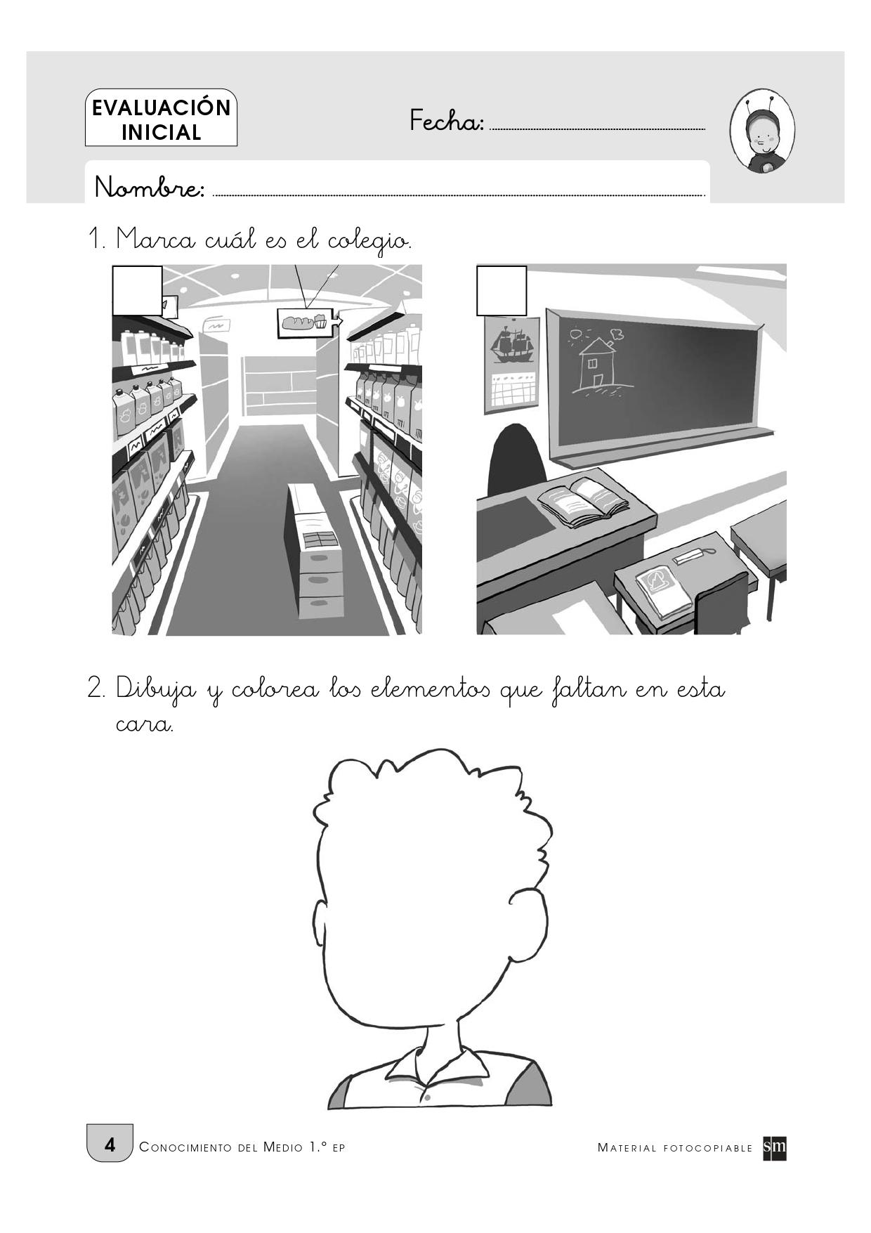 Evaluación inicial para primero de primaria_page-0005 - Orientación Andújar  - Recursos Educativos