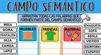 Ejercicio online de Campos semánticos para Tercero a sexto de primaria.. Puedes hacer los ejercicios online o descargar la ficha como pdf