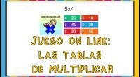 Os dejamos esta fantástica actividad interactiva con 50 preguntas multiopcción para repasar todas las tablas de multiplicar. Esperamos que os guste.