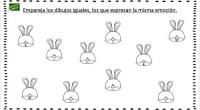 El siguiente ejercicio especialmente útil para alumnos con posibles trastornos de déficit de atención consiste en emparejar los dibujos que sean iguales, aquellos que expresen la misma emoción.
