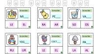 SÍLABAS INVERSAS. ¡Hola! Hoy os traemos unas chulísimas tarjetas para trabajar las sílabas inversas. Pueden seleccionar la sílaba correcta utilizando una pinza y, si las plastificáis, pueden trabajar escribiendo con […]