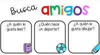 Nuevo recurso para trabajar en los primeros días de clase, buscamos amigos en nuestra clase realizando unas sencillas preguntas que os proponemos en forma de tarjetas.