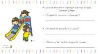 Fantásticas fichas que nos comparten nuestro blog amigo Actividades de Infantil y Primaria, para trabajar la comprensión lectora de frases cortar a partir de un dibujo.