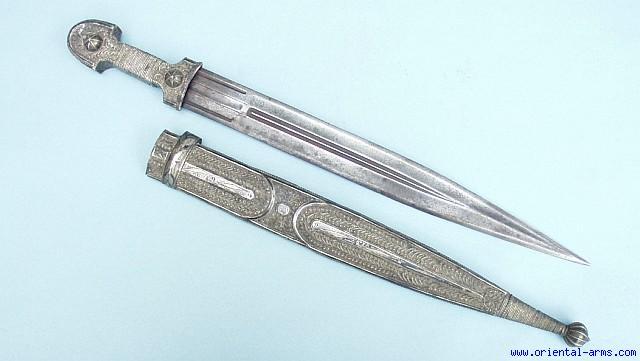Oriental Arms Silver Mounted Georgian Kindjal Dagger Old