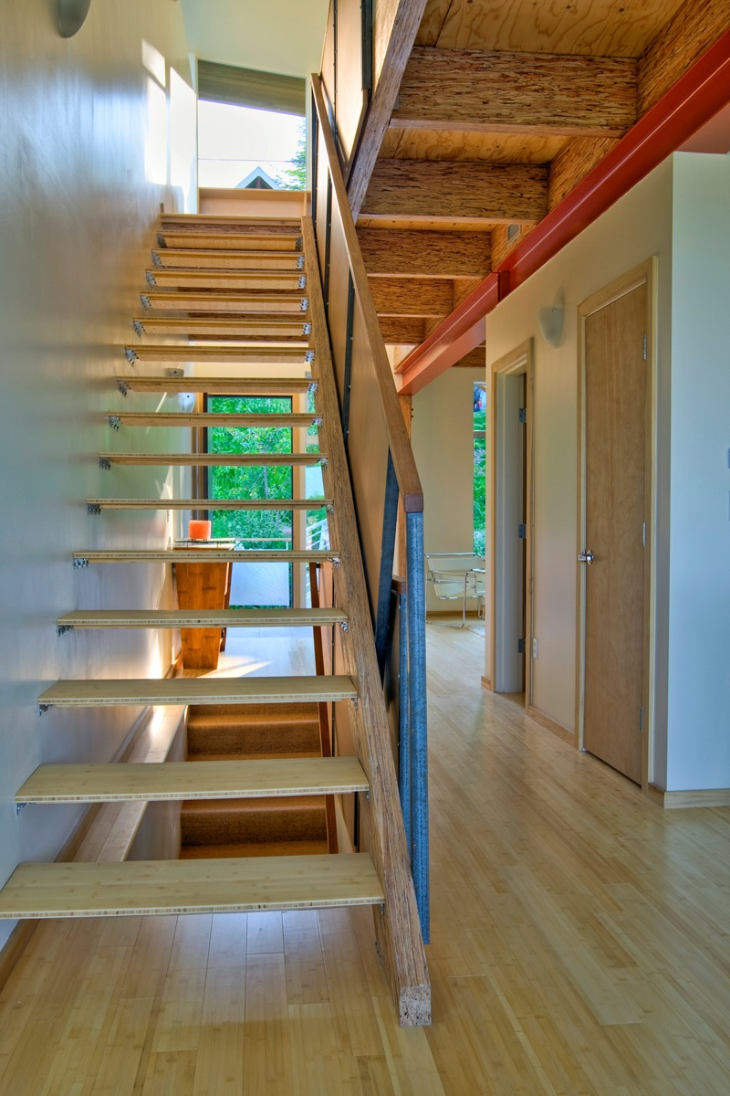 Bamboo stair treads - made from bamboo furniture boards