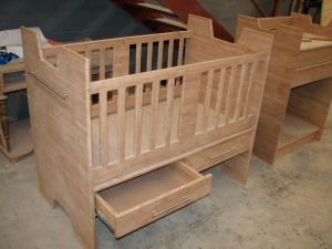 Sneak peek - solid bamboo baby crib and changing station