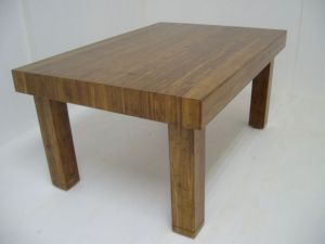 Strand Woven Bamboo coffee table - side view