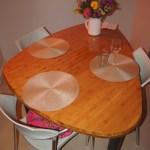Custom bamboo table for a restaurant