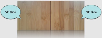 A vs B side - bamboo boards construction standards