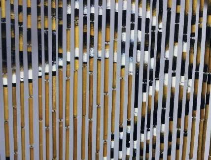 rideaux de porte en bambou