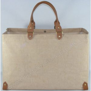 Elegant looking Juco Leather Bag - made from Natural Jute Cotton Fabric with Long Lasting LDPE lamination