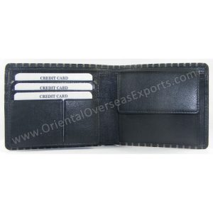 Engraved Nappa Leather Wallet