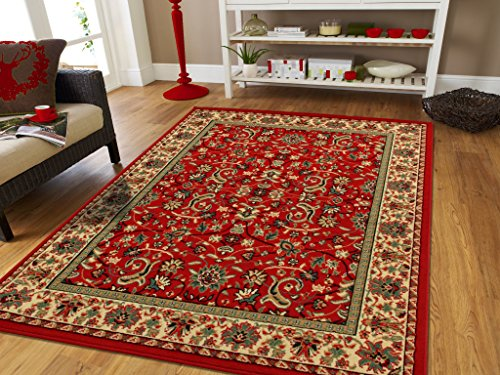 Large Oriental Rugs 2 3 Traditional Rugs Red Cream Green Persian