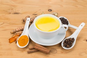 Aromatic milk tea with ginger roots, cinnamon, cloves and black pepper offers many wellness health benefits