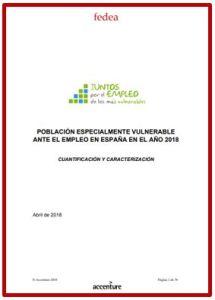 Informe Población especialmente vulnerable ante el empleo en España en 2018 Accenture Fedea