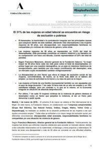 V Informe #EmpleoparaTodas