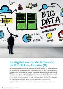 La digitalización de la función rrhh en España DCH 2018