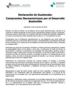 Declaración de Guatemala Compromiso Iberoamericano para el Desarrollo Sostenible