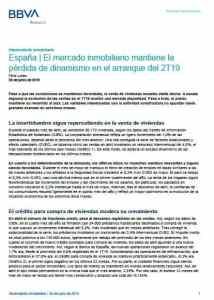 España El mercado inmobiliario bbva research2019