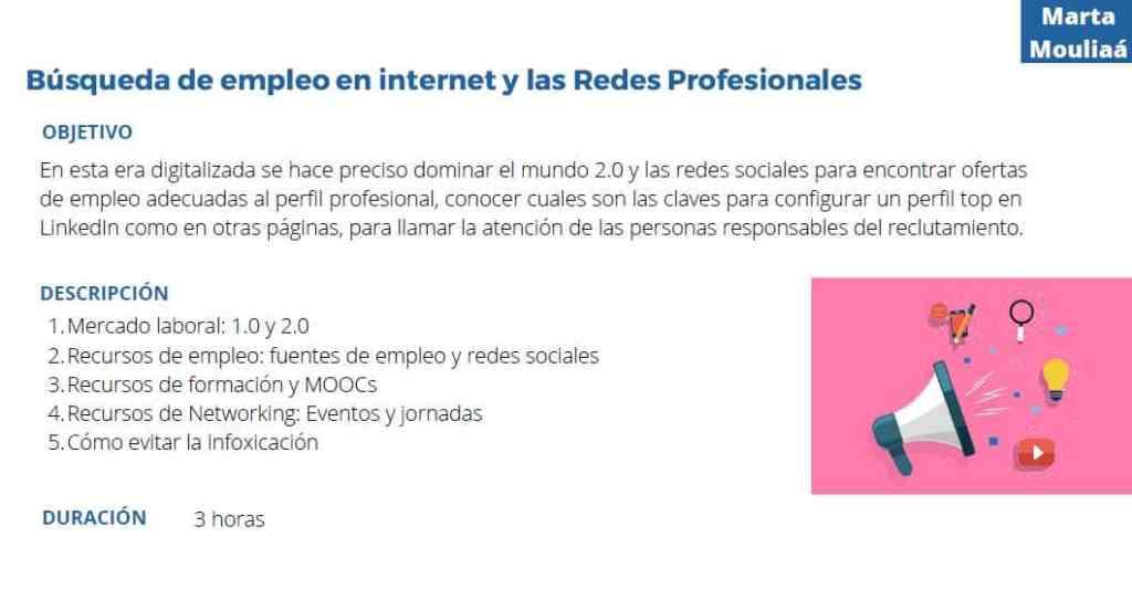Búsqueda de empleo en internet y redes sociales Marta Mouliaa