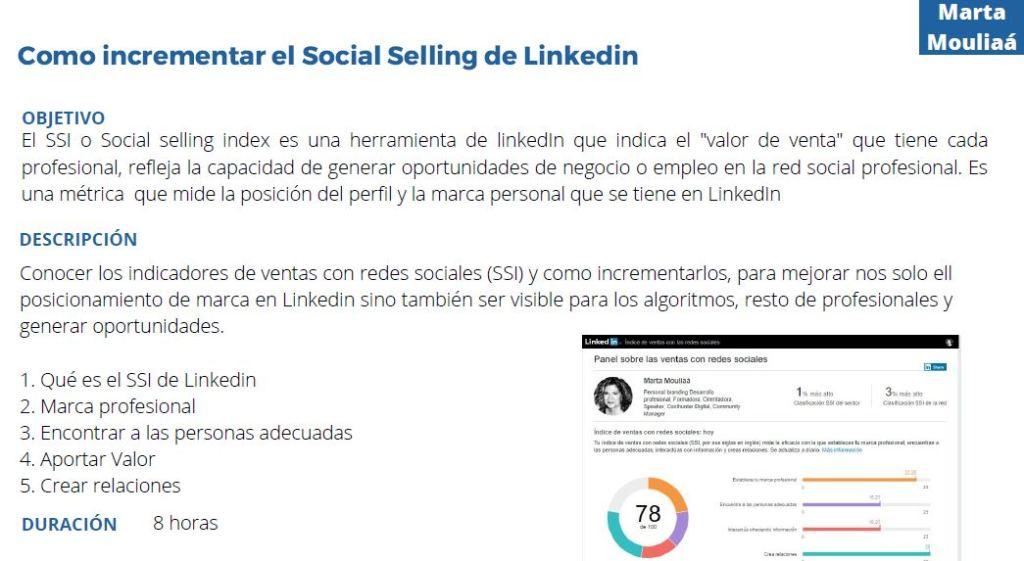 Como incrementar el social selling de Linkedin Marta Mouliaa