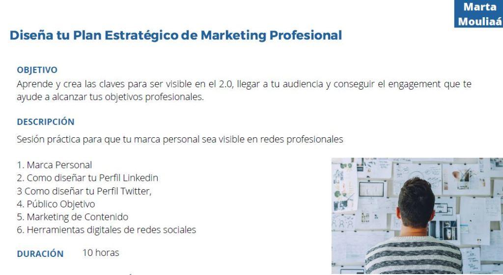 Diseña tu plan estratégico de marketing digital Marta Mouliaa