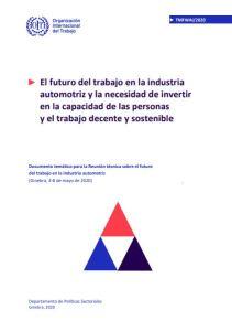El futuro del Trabajo en la Industria Automotriz OIT 2020