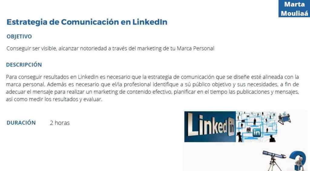 Estrategia de comunicacion en Linkedin Marta Mouliaa