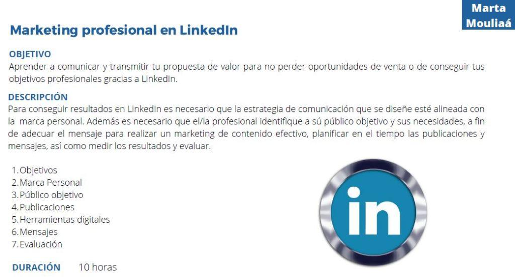 Marketing profesional en LinkedIn Marta Mouliaa