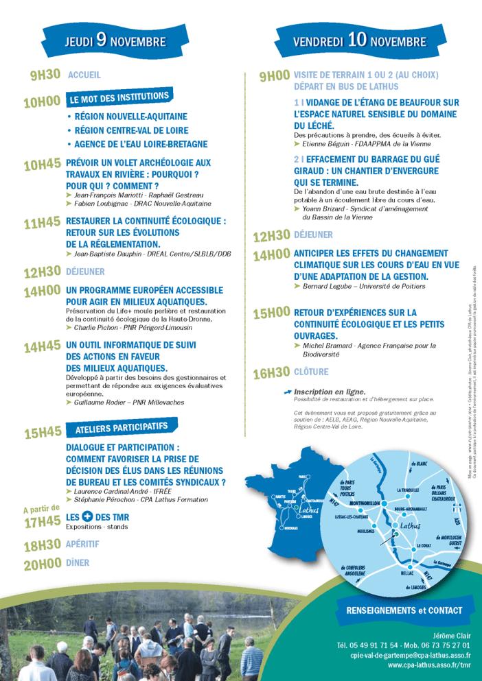 Programme forum des techniciens de rivières
