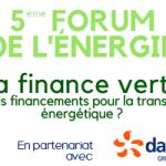 Forum de l'énergie sur la finance verte à Grenoble