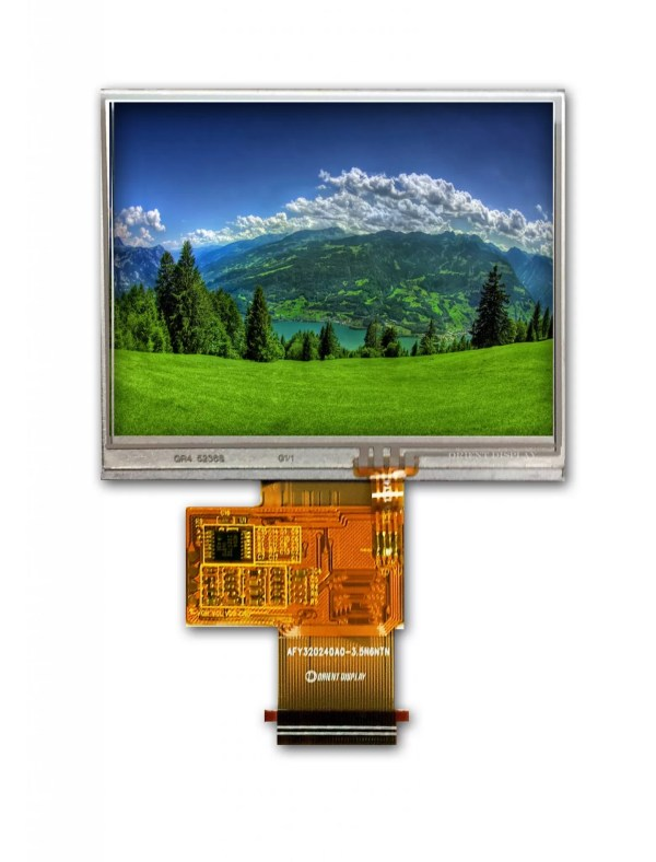 """3.5"""" TFT, 320x240, 240 Nits with Resistive Touch Panel"""